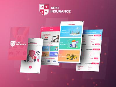 Apki Insurance Mobile App ui ux mobile app design