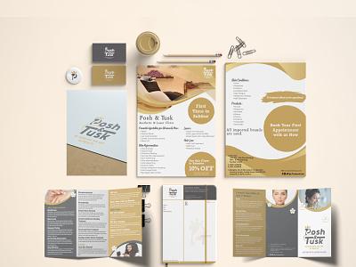 Posh & Tusk Stationery Design envelop cards stationery brand identity