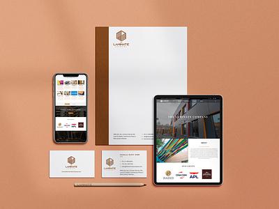 The Laminate Stationery Design branding brand identity web card letterhead stationery design