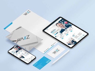 Waiiz LLC Stationery Design letterhead business card web stationery design branding brand identity