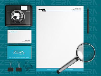 Zera Creative Stationery Design letterhead stationery design company profile brand identity branding