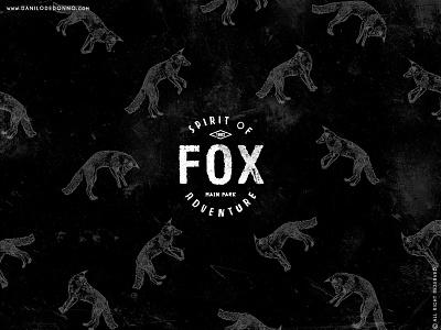 Fox Patternb forest wood camp vintage type typography freedom wild pattern outdoor adventure fox
