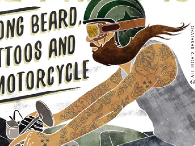 All I Need is... vintage garage typography hipster rider tshirt tattoo biker motorcycle beard caferacer poster