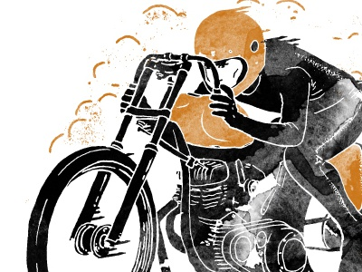 Scotch and Iron caferacer scotch and iron vintage typography ride motorcycle bonneville race man hipster fast