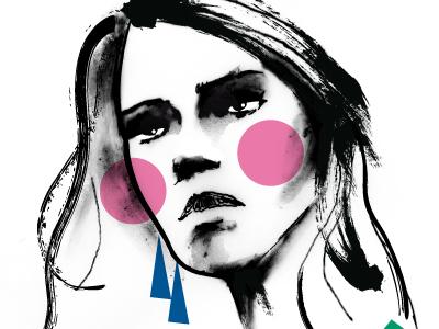 Face02 paint glamour style vogue fashion woman female print design fashion illustration fashion design