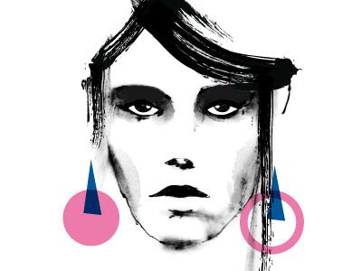 Face01 pop art design art illustration magazine glam model woman face moda graphic design fashion