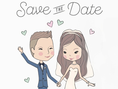 Save The Date2 event celebration stationary wedding invites save the date wedding illustration custom illustration special day wedding get married