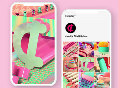 Pink and Teal Explorations graphics motiongraphics art abstract monthly motion design satisfying octane lioncolony lifestyle design cinema4d branding beauty product beauty asmr animation