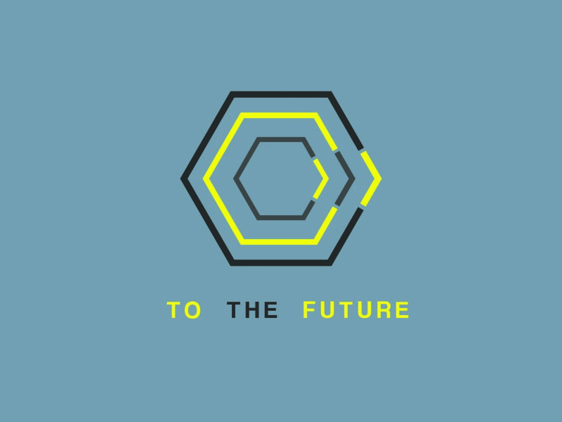 To The Future - Logo Concept modern logo modern design modern alternate hexagon logo hexagon future concept design concept logo colors branding advertising vector concept logo design