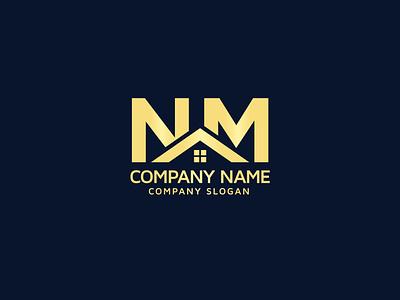 NM Logo, Real Estate Property Mortgage Home Building Logo Design logo designer logo designs logotype logos mn home mn logo realestate unique logo design homelogo mortgage real estate logo logo design real estate brand identity logodesign graphicdesign graphic design