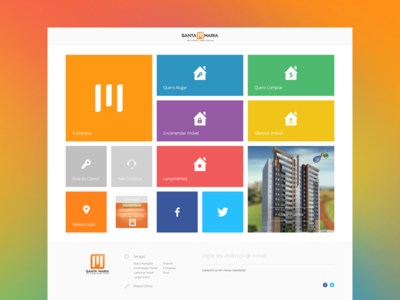 Real State Agency Website web design flat colors labcom