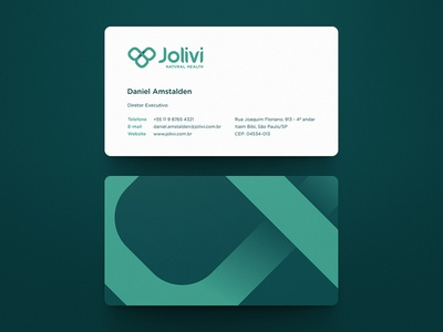 Jolivi Business Card business card rebranding natural health jolivi