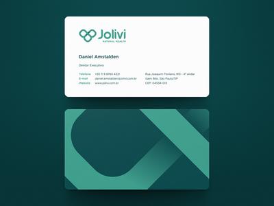 Jolivi Business Card business card rebranding natural health jolivi