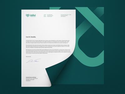Jolivi Letterhead rebranding natural health jolivi letterhead