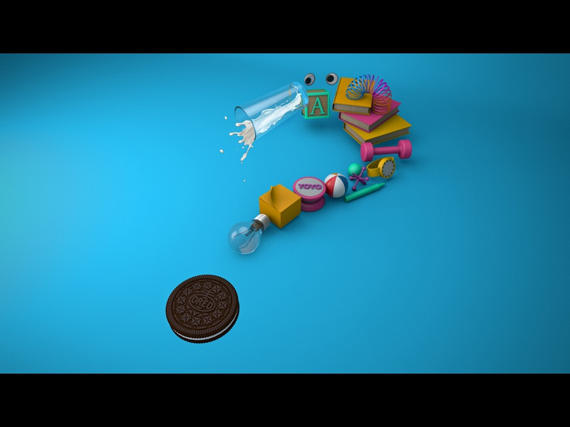 Silly Question illustration design c4d oreo 3d