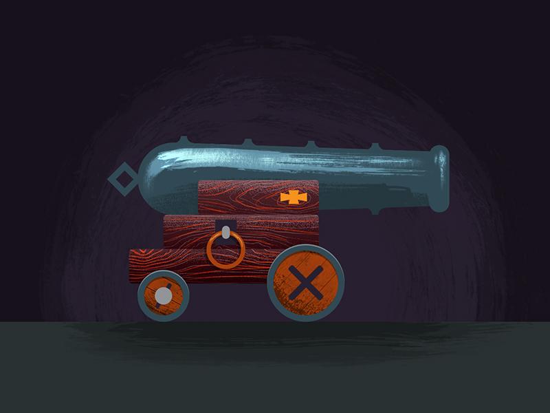 Cannon design pirate cannon illustration 2d