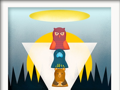 Finding the true meaning of life together... meaning life meaning of life animals stacking dolls shading illustration fast adobe creative jam