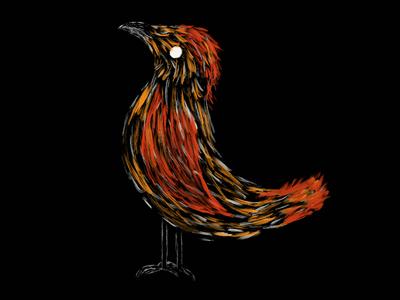 Bird Painting animal neon glow impression wildlife bird procreate ipad paint