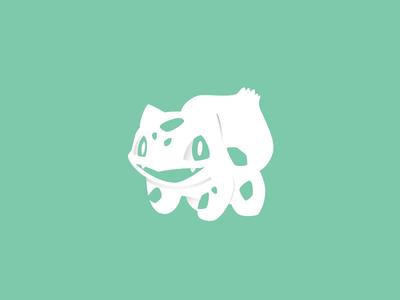 Bulba 1/365 pokeball pokemon shadows white minimal games bulbasaur
