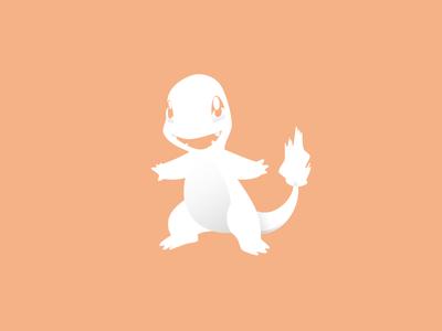 Char 2/365 white shadows pokemon pokeball minimal games charmander