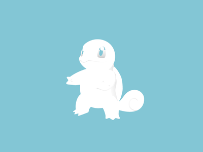 Squirt 3/365 shadows minimal pokeball turtle squirtle pokemon