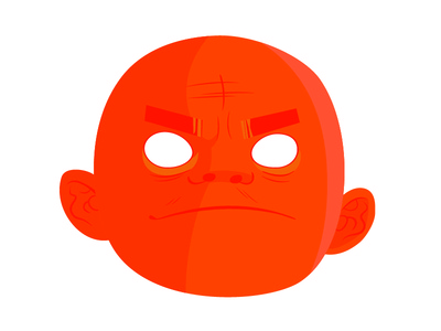Russel, Gorillaz russel orange screen music illustration illustrated gorillaz flat design character band
