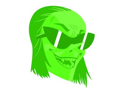 Ace, Gorillaz screen green ace music illustration illustrated gorillaz flat design character band