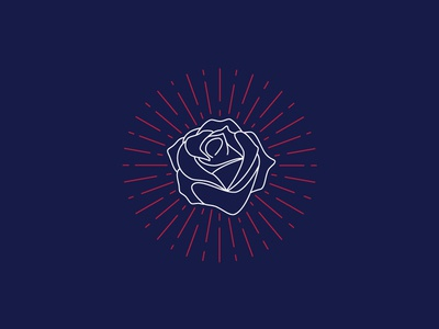 Rose line art lineart line louisville kentucky illustration derby rose burst