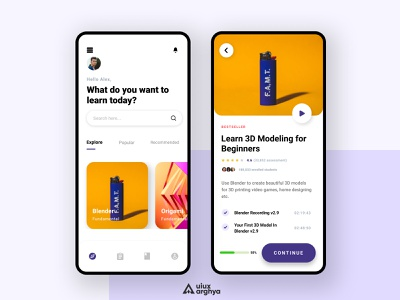 Educational App Minimal UI Design minimalism uiuxarghya minimaldesign minimalist flat teaching video lesson figma illustrator illustration app minimal ux ui design