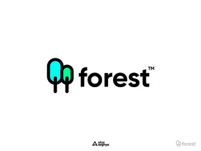Forest™ Logo Design Concept mordern logo gilroy logotype logo design logodesign forest logo minimaldesign uiuxarghya ui icon vector branding logo minimalism figma design