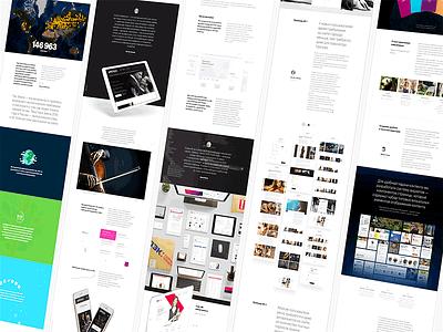 Sneak Peek of Portfolio Pages // ITECH web sketch pages portfolio work case cases site agency new