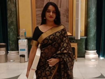 Pranita Bora at Rashtrapati Bhavan