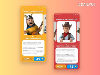 #DailyUI 006 / User Profile minimal illustration ui ux design sketch dailyuichallenge dailyui game character concept character design. mobile game characterdesign character