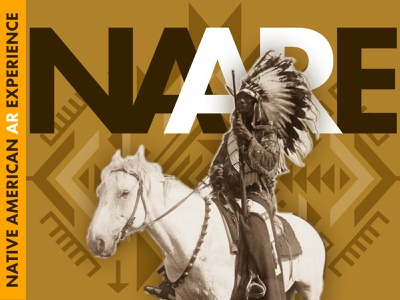 NAARE  / Native American AR Experience App ui ux design sketch augmented reality ar museum app museum app native american