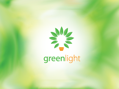 GreenLight logo green light leaf eco energy eco-friendly