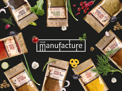 """Spice for """"Meat Manufacture"""" food packaging seasoning spice illustrator graphic design"""