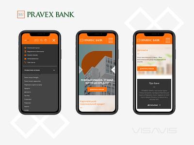 Pravex Bank pravex bank ui  ux bank development adaptive website design