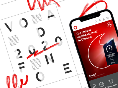 Vodafone vis-a-vis interface website adaptive design ui  ux development digital