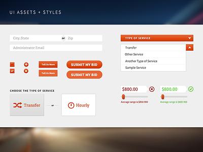 UI Set ui interface form button ux blur input select