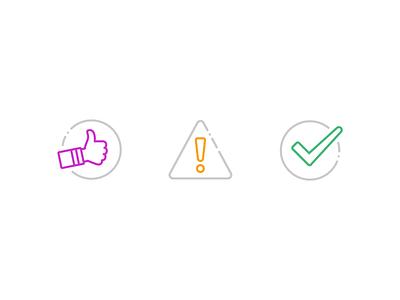 Dialog Icons ui icon illustration iconography line success error dialog