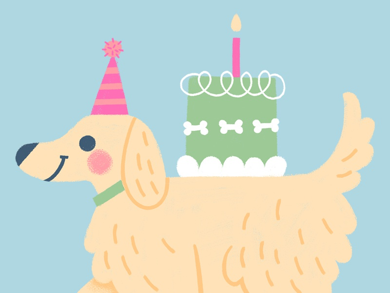Stupendous Puppy Party By Debbie Kennedy On Dribbble Funny Birthday Cards Online Necthendildamsfinfo