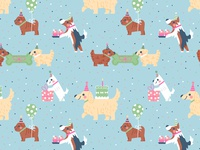 Puppy Party Pattern