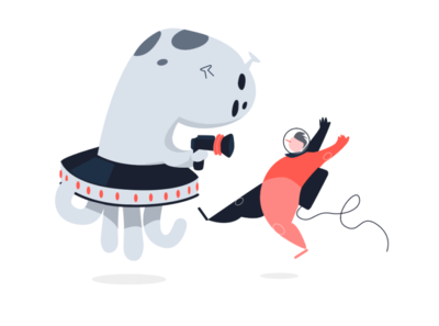 Error 403 alien astronaut technology branding design character illustration vector adobe illustrator