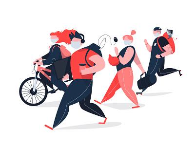 September 2020 office workers work characterdesign tech technology branding design character illustrator illustration vector adobe illustrator