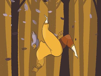 Fall characterdesign illustration falling dream forest fall2020 autumn fall
