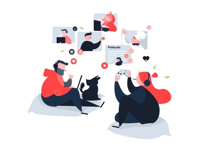 #stayathome lifestyle stay home workplace workshop videochat videocall staysafe stayhome remote working remotework characterdesign tech technology branding design character vector illustrator illustration adobe illustrator