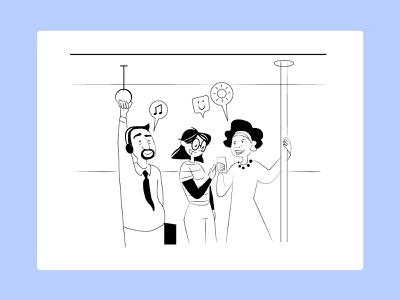 Underground happiness underground branding design character illustration adobe illustrator