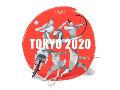 Tokyo 2020 characters graphic design medal olympic games character design procreate illustration games team sports olympicgames tokyo2020 olympics