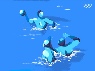 Tokyo 2020 blue team medal graphic design illustration tokyo 2020 olympics games olympics sports waterpolo