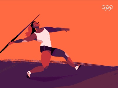 Tokyo 2020 characters character design illustration sports games olympic games olympics javelin throw javelin